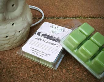 Sage and Chamomile Scent - Soy Wax Melts - Soy Wax Tarts - Scented Wax Melts - Candle Melts - Scented Wax Cubes