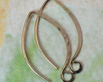Ear Wires 14K Gold Filled Handmade: Hammered Style