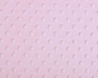 CLOSEOUT SALE Baby Pink Minky Dimple Dot by the YARD by Shannon Fabrics
