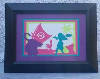 Moana Disney Cut Paper Movie Scene Collage Fan Art