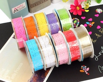 washi tape lace for decoration and scrapbooking
