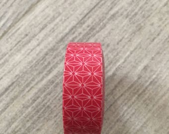 Red poinsettia Washi Tape holiday