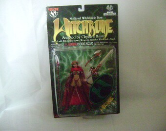 """WITCHBLADE ACTION FIGURE """"Medieval"""" Witchblade Clayburn Moore Action Collectibles, With Stand and Accessories, Unused, Like New"""