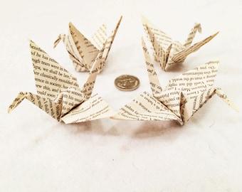 Large Bookish Paper Cranes