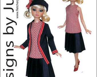 "PDF Contemporary Pattern for 16"" Ellowyne Wilde Dolls Tonner"