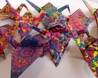 1000 Origami Cranes- Kaleidoscope