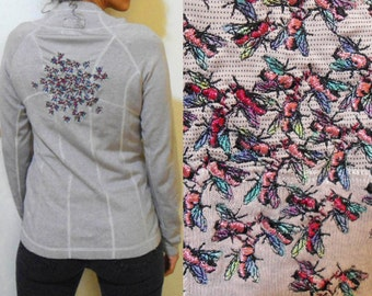 DISCOUNT L - Swarm of Pink Flies- Embroidered Running Shirt