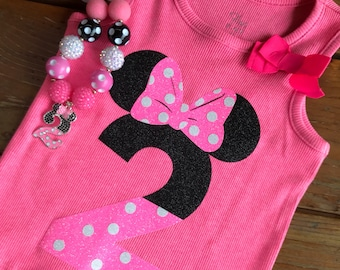 Minnie 2 Year Old Shirt and/or Necklace