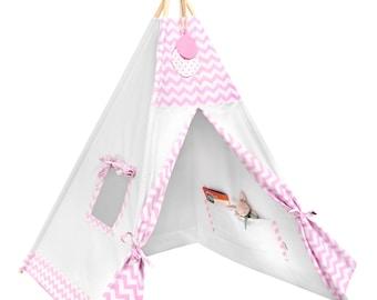 Tipi Set - Kids Play Tent Teepee - Candy