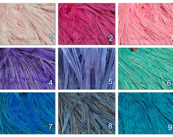 "50 Organza Ribbon Cord Necklaces, Pick your Colors 18"" Length"