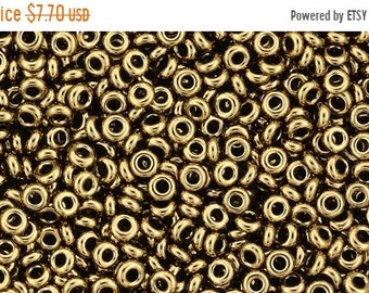 "ON SALE Demi Rounds, 11/o Toho Seed Bead, Bronze, (TN-11-221), 2.5"" tube"