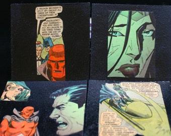Vintage Images Justice League Coasters Set of 4 DC Comics Coasters Superman Batman Wonder Woman