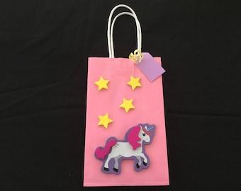 Unicorn party favor bags