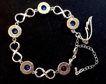 Castiel Infinity Sterling Silver Winchester Bullet Casing Bracelet