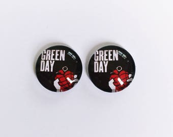 The 'Green Day' Glass Earring Studs