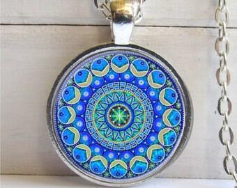 Mandala Pendant - Original Mandala Art Pendant Necklace