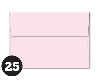 25 Pack Light Pink Envelopes in A1 4Bar and A7 sizes Invitations, Photos, RSVP and Cards, Powder Pink, Pack of 25