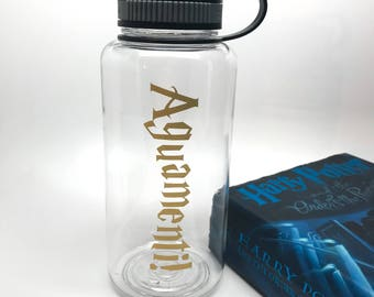 Harry Potter Water Bottle - Augamenti Wide Mouth Water Bottle - Harry Potter Fan Gift