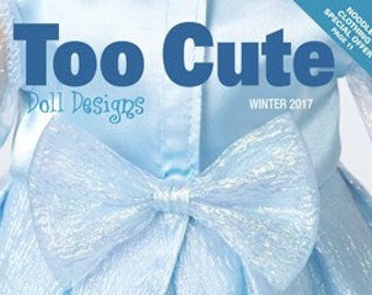 """Too Cute Doll Designs WINTER 2017 - Sewing Patterns for 18"""" dolls"""
