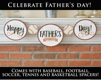 Printable Father's Day Banner, Father's Day Decor Instant Father's Day Gift, Last Minute Father's Day,  Instant Download