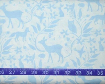 Blend Fabrics. Born Wild. Woodland Creatures Blue (quilter's weight woven cotton) - BTY Cotton Fabric - Choose your cut