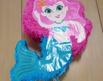 Mermaid Party Pinata/ Mermaid Party Pinata/ Mermaid Pinata/ Mermaid Party Decor
