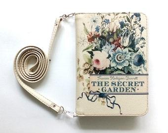"""Book clutch """"The secret garden"""""""