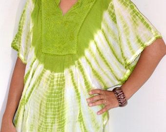 Tie Dye Top/Blouse/ Circle Top/Women Dress/Summer Dress /Hand Made/Boho /Hippie/Beach dress/free size/Rayon Women Summer dress/last one