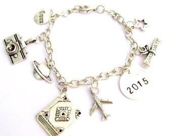Grad Bracelet 2018 Bracelet à l'obtention du diplôme, l'obtention du diplôme de charme Bracelet inspiration Bracelet personnalisé Bracelet livraison gratuite aux Etats-Unis