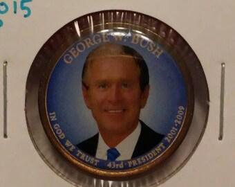 2015-P George W. Bush President 2001-2009 Enameled Dollar