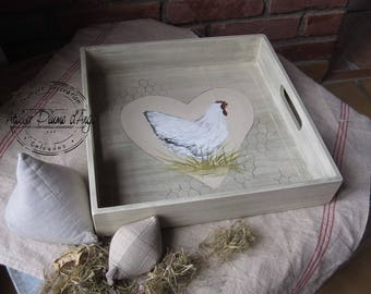 "Tray decor ""Hen"""