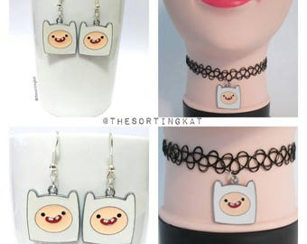 Adventure Time - Finn Choker / Finn Earrings