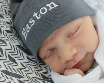 Personalized Baby Knot Hat  -  American Apparel - You choose the colors