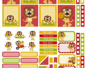 Dandy Lion spring planner stickers