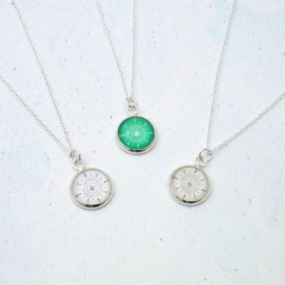 Birthstone Compass Necklace