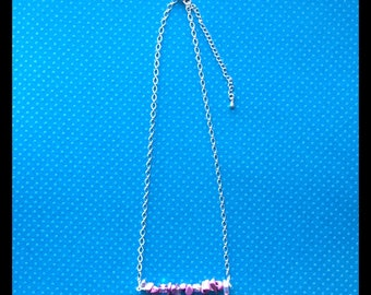 Pink Gemstone Glam Necklace