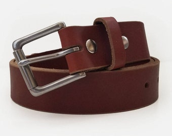 Chicago Tan Chromexcel Horween Leather Belt - 1.25'' W