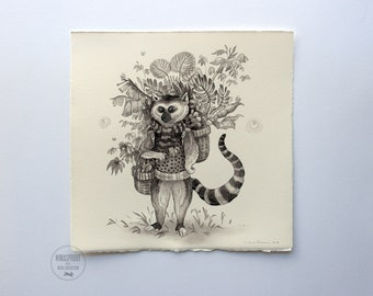 Lemur - Original Painting