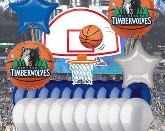 Minnesota Timberwolves 25 Piece Balloon Set