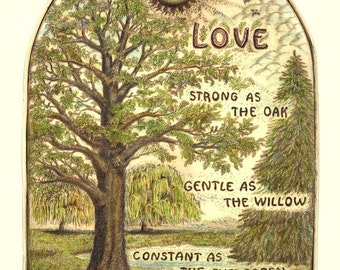 heart love Valentine wedding or anniversary giclee  print