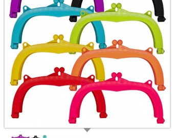 """Lecien Jelly clip LARGE 7""""  - 8 colors resin acrylic kiss lock for purse,  1 clip per package - choose a color"""