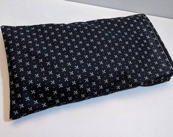 Aromatherapy Eye Pillow - Herbal Eye Pillow - Navy Arrows Eye Pillow Cover - Flax Seed Eye Pillow - Washable Cover - 11x6 - Large Eye Pillow