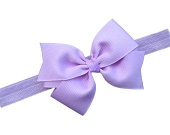 Light purple baby headband - purple bow headband, baby headbands, baby headband bows, newborn headband, baby girl headband, baby bows, bows