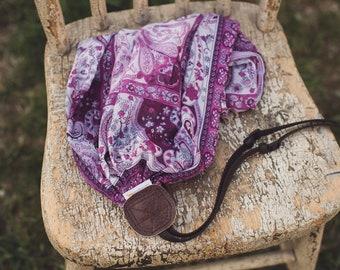 Purple Paisley Camera Strap