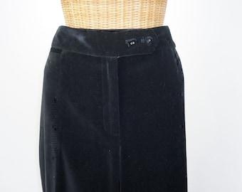 Velvet Dress Pants Black Liz Claiborne The Villager Unworn Size 12