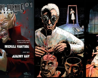 Vampire Journals: Asylum #1, 3 Book Downloads! B/W, Full Color and Photo book!