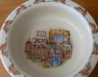 Vintage Royal Doulton Bunnykins Porringer or Cereal Bowl