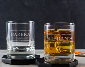 Personalised Whiskey Glass - Personalised Retirement Gifts