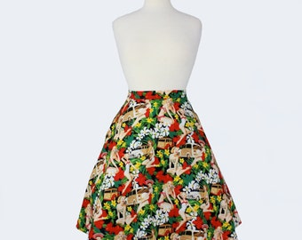 Custom Plus Size  Made to Your measurements Aline Pinup Skirt / You choose Fabric