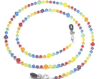 Swarovski Crystal Rainbow Eyeglass Chain Holder